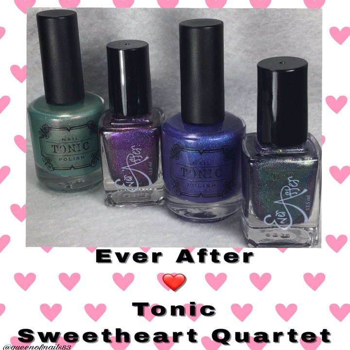 Swatch & Review: Ever After & Tonic Sweetheart Quartet