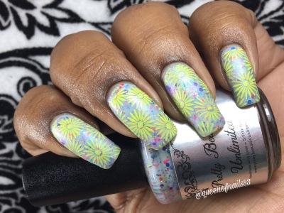 Neon Beach w/ nail art