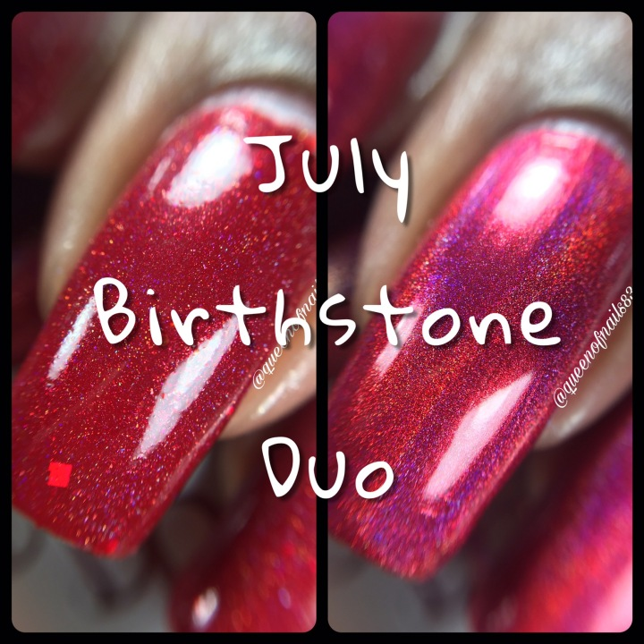 Swatch & Review: Bad Bitch Polish – July Birthstone Duo
