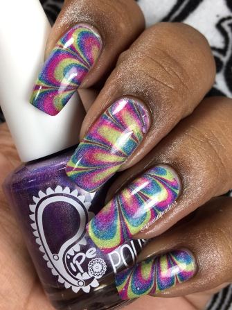 Spring watermarble using the Boombastic Collection from pipe dream polish
