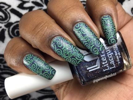 Handful of Falling Stars w/ nail art