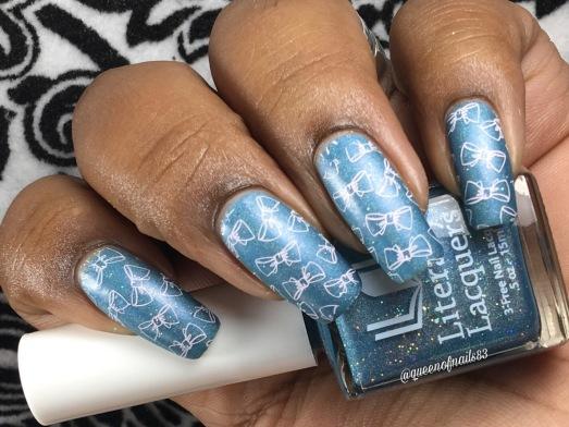 Lettie's Ocean w/ nail art