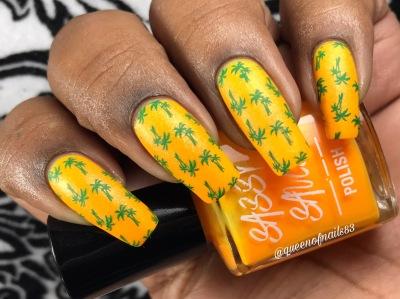 Sparkling Sunshine w/ nail art