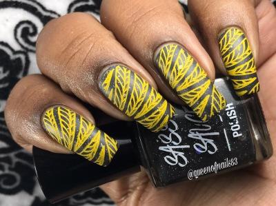 Cosmic Lava w/ nail art