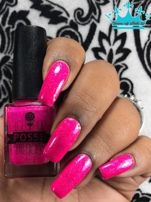 Lollipop Posse Lacquer - Cotton Candy Chaos w/ glossy tc