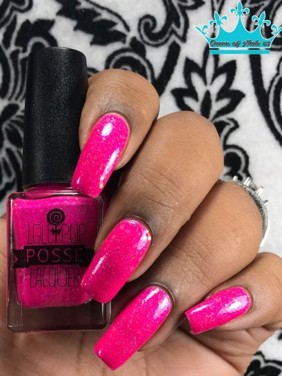 Lollipop Posse Lacquer - Cotton Candy Chaos w/ glossy tc
