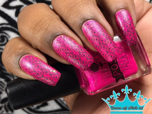 Lollipop Posse Lacquer - Cotton Candy Chaos w/ nail art