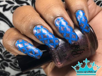 Flake Off w/ nail art