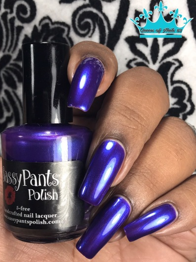 Sassy Pants Polish - We Wear Purple w/ glossy tc