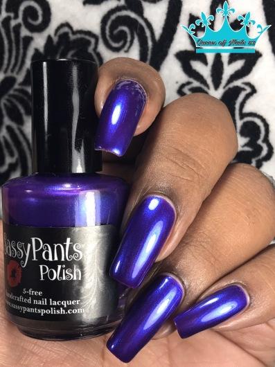 Sassy Pants Polish - We Wear Purple w/ glossy tc