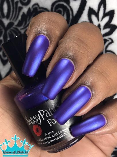 Sassy Pants Polish - We Wear Purple w/ matte tc