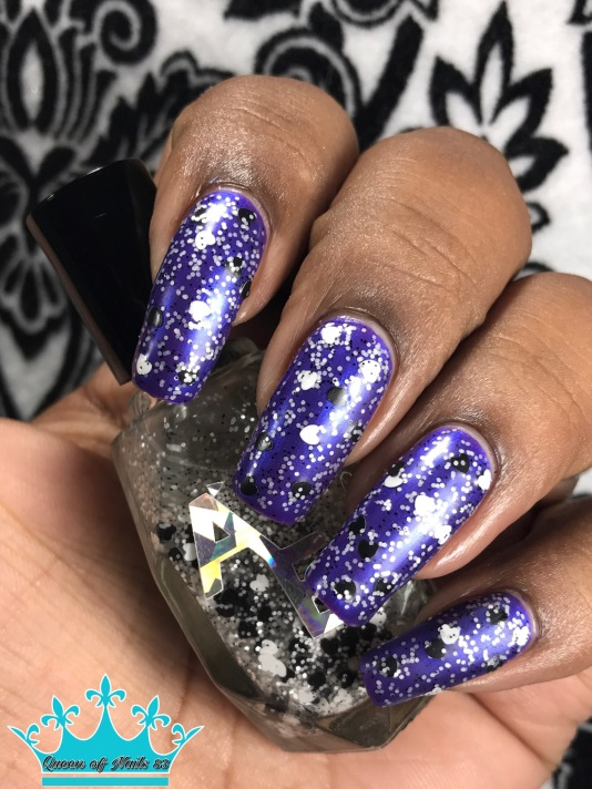 Sassy Pants Polish - We Wear Purple topped w/ Alter Ego Polish - You Do or You Don't w/ matte tc