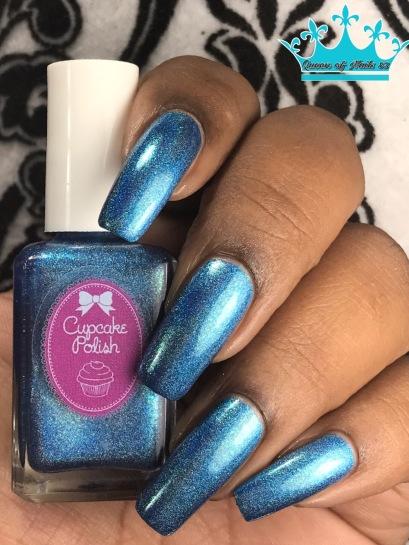Cupcake Polish - Mystic Blue w/ glossy tc