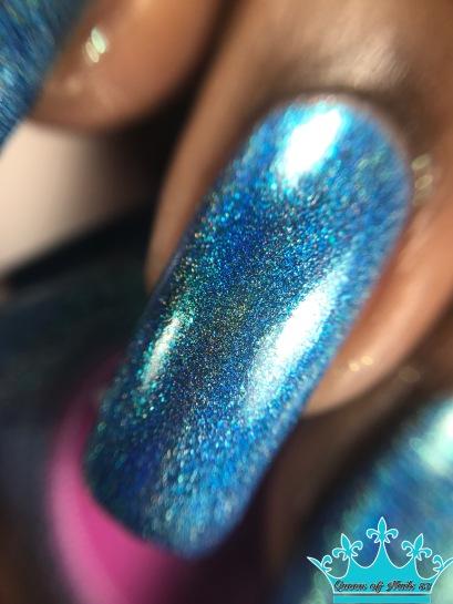 Cupcake Polish - Mystic Blue macro