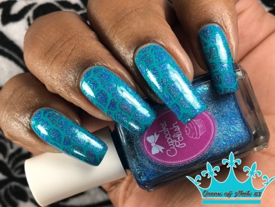 Cupcake Polish - Mystic Blue w/ nail art
