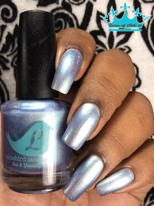 Bluebird Lacquer - And Drama, Duh w/ glossy tc