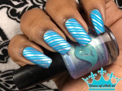 Bluebird Lacquer - And Drama, Duh w/ nail art