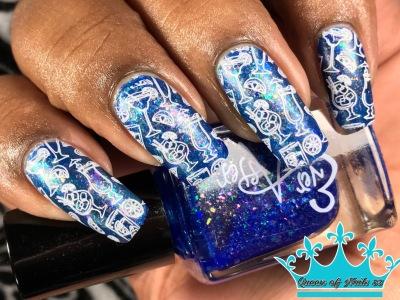 Blue Hawiian w/ nail art