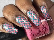 Polish 'M - At First Blush w/ nail art