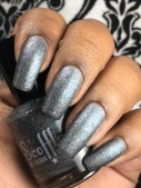 Scofflaw Nail Varnish - Charlotte Spinning in the Stars w/ matte tc