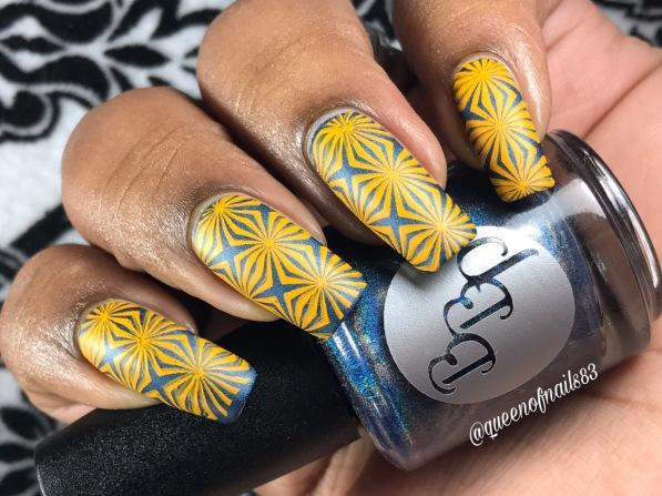 Blue Moon w/ nail art