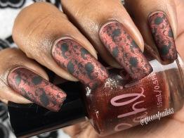 Chocolate Diamond w/ nail art