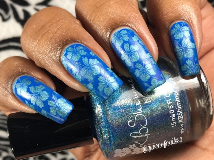 KBShimmer - That Goes Without Cyan w/ nail art