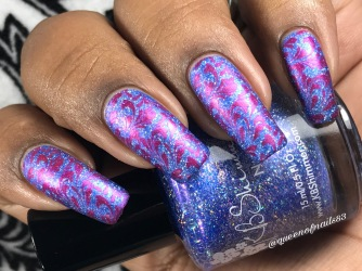 KBShimmer - One Holo-of a Storm w/ nail art