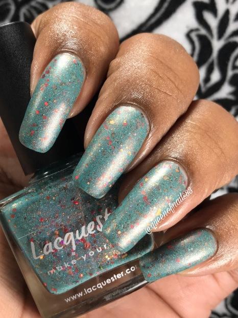 Lacquester - Poppy Like it's Hot w/ matte tc