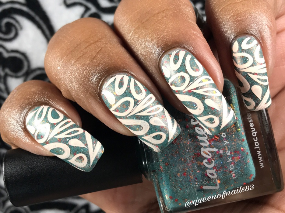 Lacquester - Poppy Like it's Hot w/nail art
