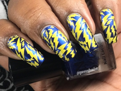 Bleu'tiful w/ nail art