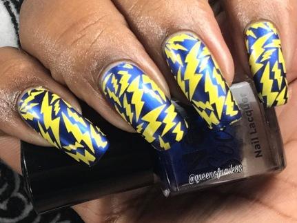 Bleu'tiful w/ nail art