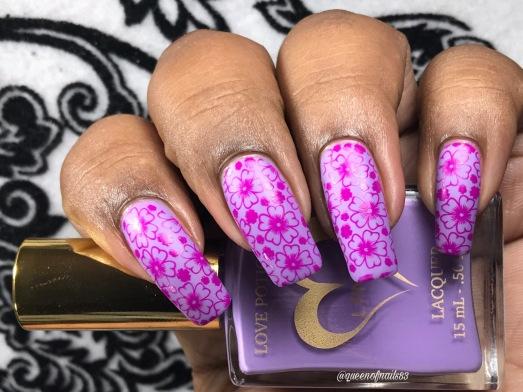 Purple Pizza w/ nail art