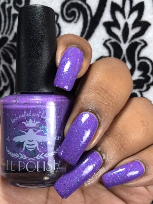 LE Polish - Cancer Can't Dull Our Sparkle w/ glossy tc