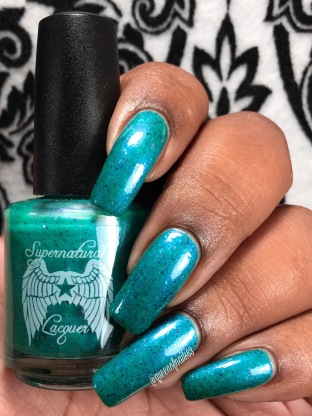 Supernatural Lacquer - Keep Calm & Wear Teal w/ glossy tc