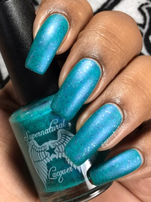 Supernatural Lacquer - Keep Calm & Wear Teal w/ matte tc