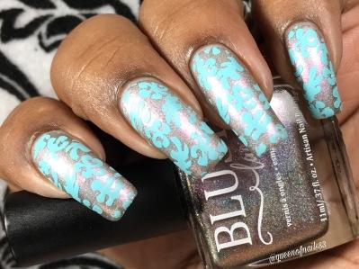 Blush: Tip-Toe The Tightrope w/ nail art