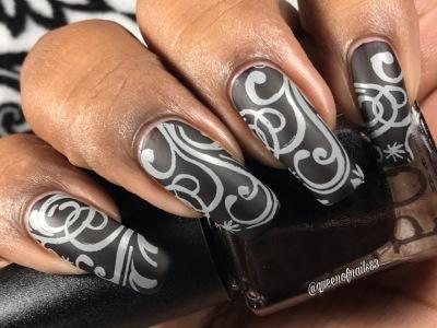 Bela Lugosi's Red w/ nail art