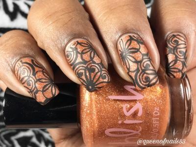 Pumpkin Carriage w/ nail art