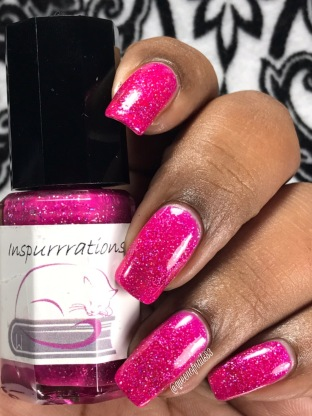 "Inspurrrations Nail Polish - Jeremiah 31:13 ""Young women will dance and be glad, I will give them comfort and joy instead of sorrow"" w/ glossy tc"
