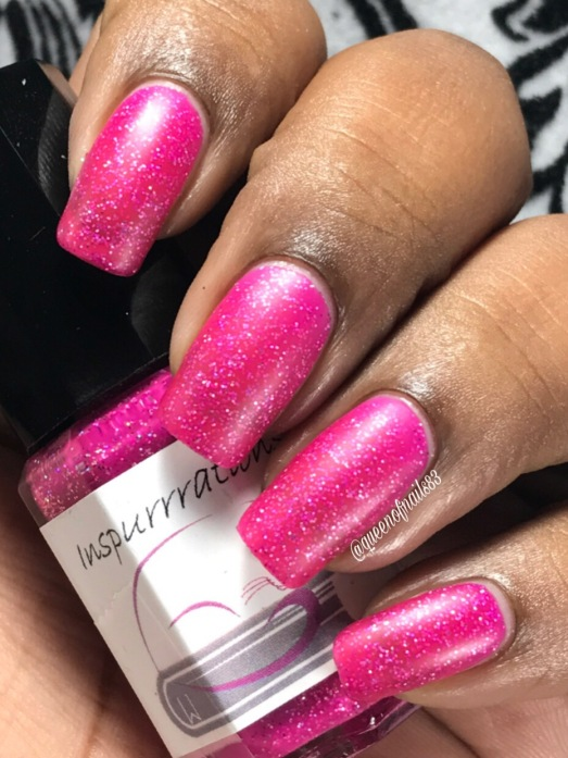 "Inspurrrations Nail Polish - Jeremiah 31:13 ""Young women will dance and be glad, I will give them comfort and joy instead of sorrow"" w/ matte tc"