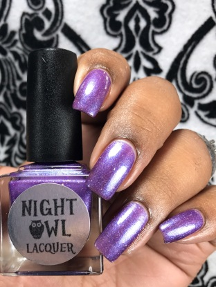"Night Owl Lacquer - ""Unicorn Kisses"" w/ glossy tc"