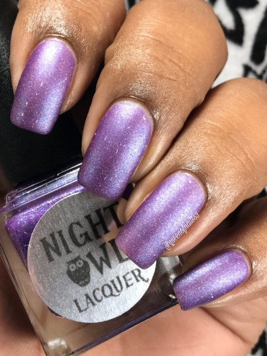 "Night Owl Lacquer - ""Unicorn Kisses"" w/ matte tc"