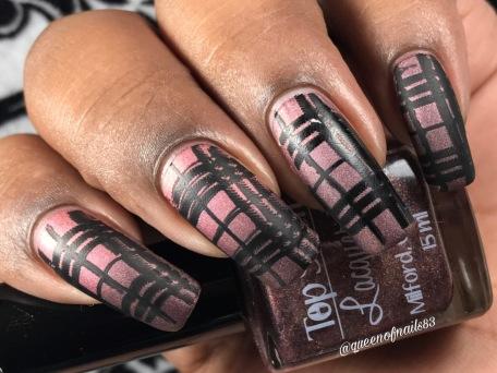 Top Shelf Lacquer / You're so full of shift! w/ nail art