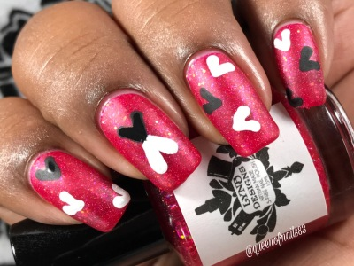 Strawberry Feels - w/ nail art
