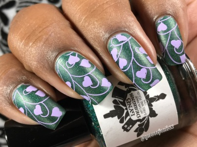 Once and Future Green - w/ nail art