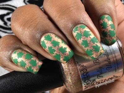 Salted Carmel Mocha w/ nail art
