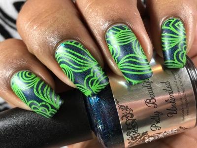 Evening Star w/ nail art