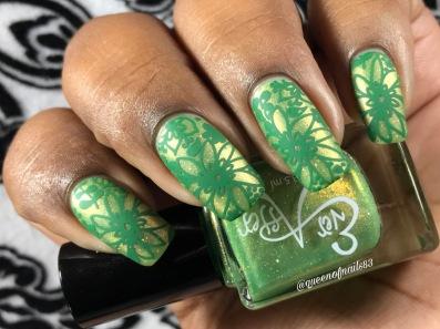 Candy Apple w/ nail art