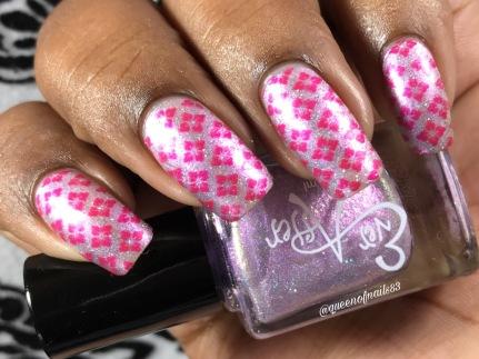 Cotton Candy Coma w/ nail art